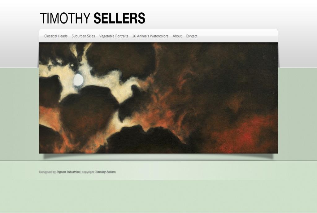 Screenshot of Timothy Sellers website