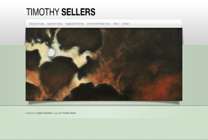 Screenshot of Timothy Sellers website