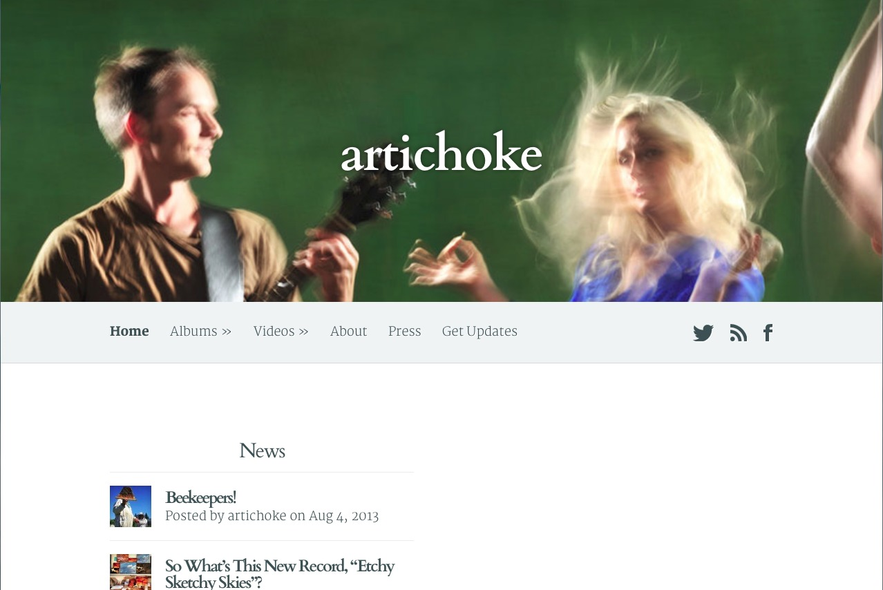 Screenshot of Artichoke website