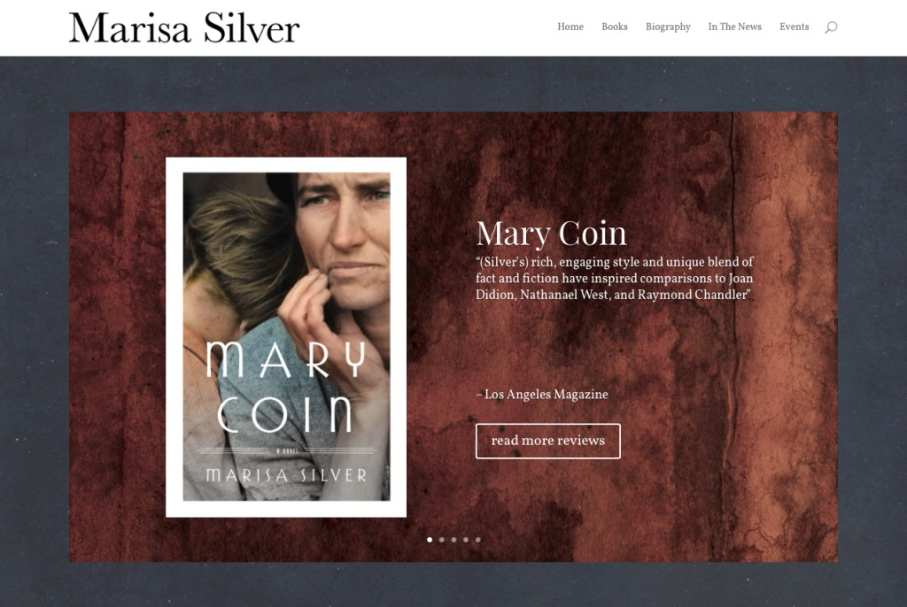 Screenshot of Marisa Silver website