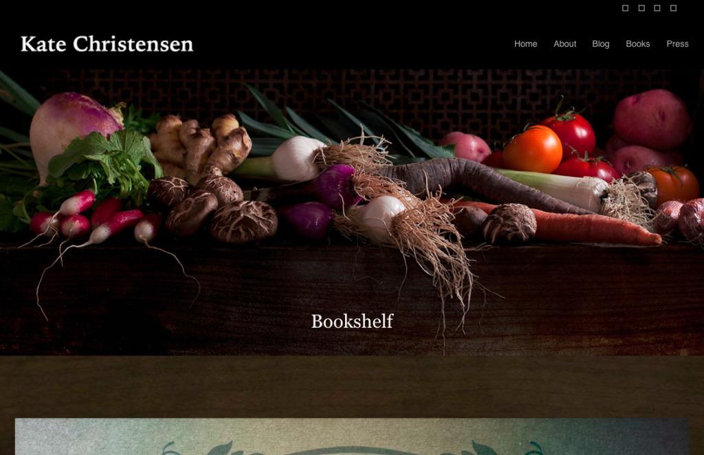 Screenshot of Kate Christensen website