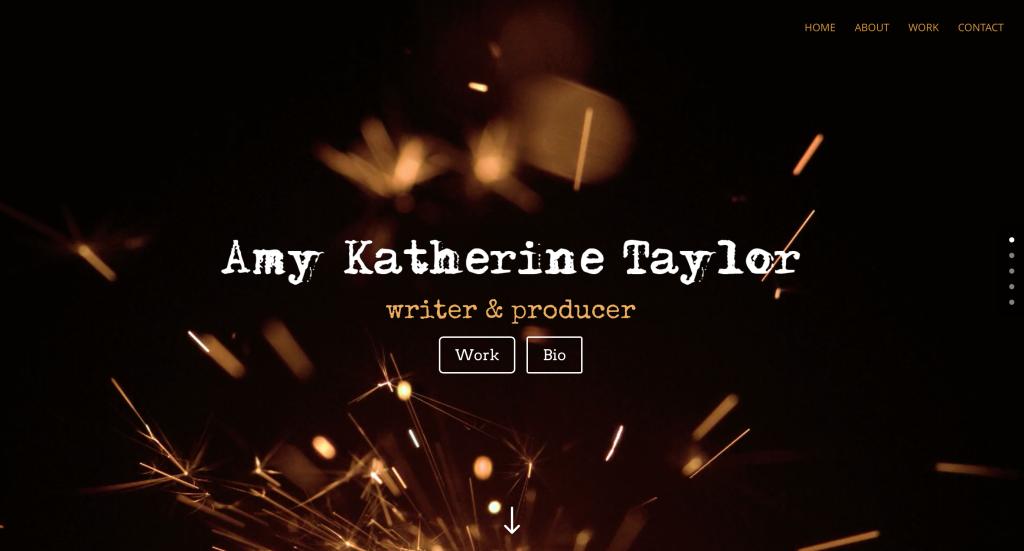 Screenshot of Amy Katherine Taylor website