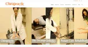 Screenshot of Mission Chiropractic Works website