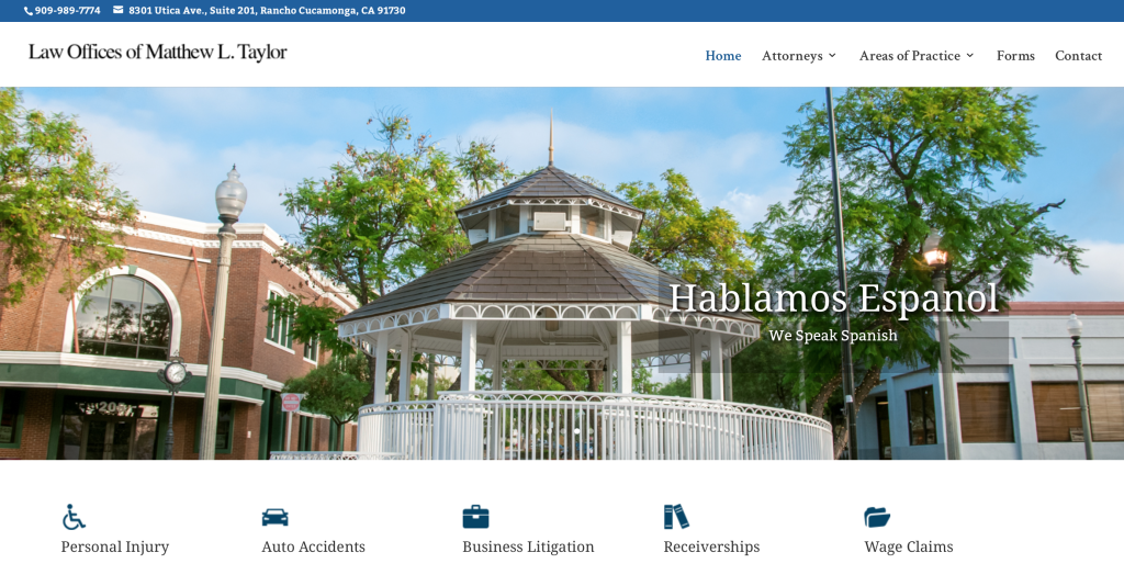 Screenshot of Attorney Glendora website