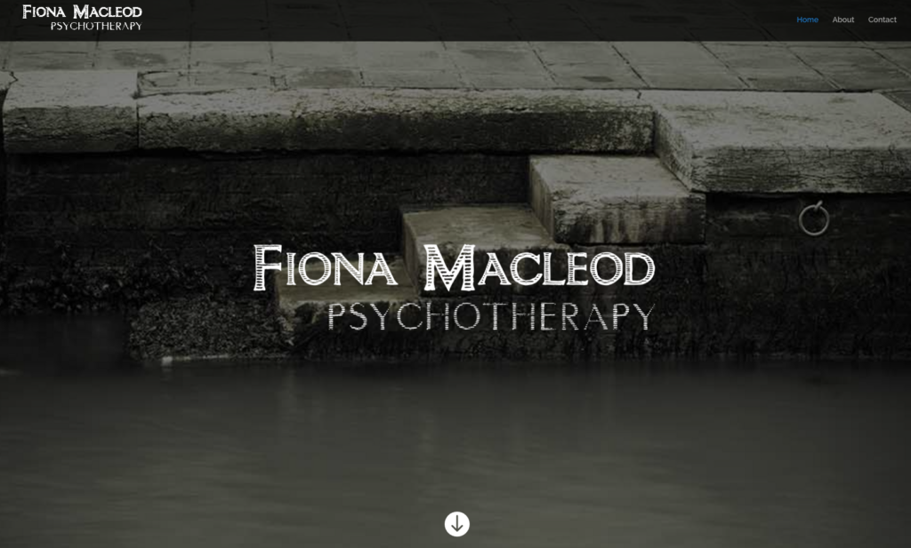 Screenshot of Fiona Macleod website