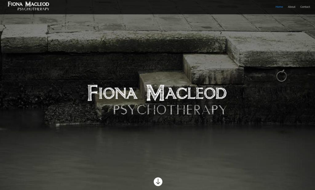 Screenshot of Fiona Macleod website