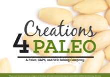 Screenshot of Creations4Paleo website